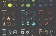 Running Exercise App Icons Vector
