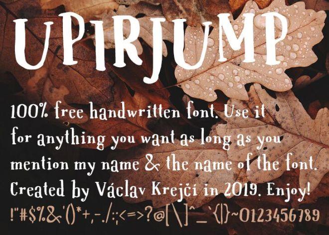 UPIRJUMP Handwritten Font
