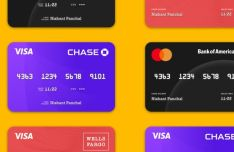 Realistic Credit Card Template For Sketch