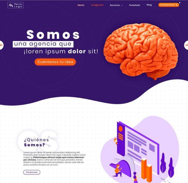 Beautiful Agency Website PSD Template