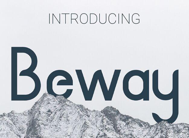 BEWAY Clean Typeface