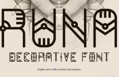 RUNA Decorative Font