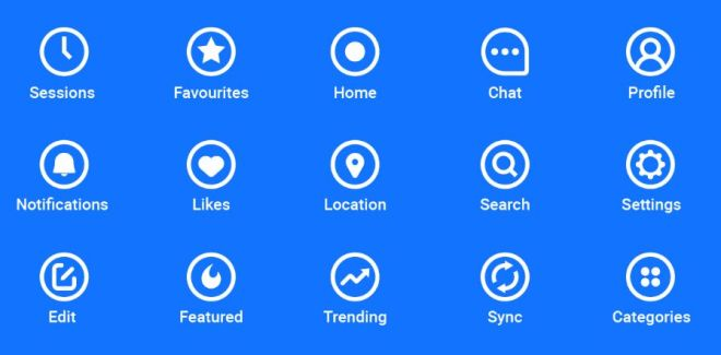 Minimal Icon Set For App Design (AI)