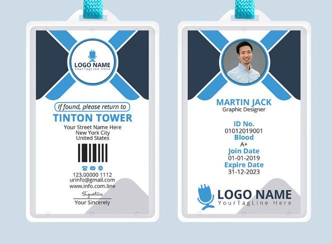 Free Professional Office ID Card Template PSD - TitanUI