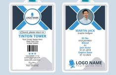 Professional Office ID Card Template PSD