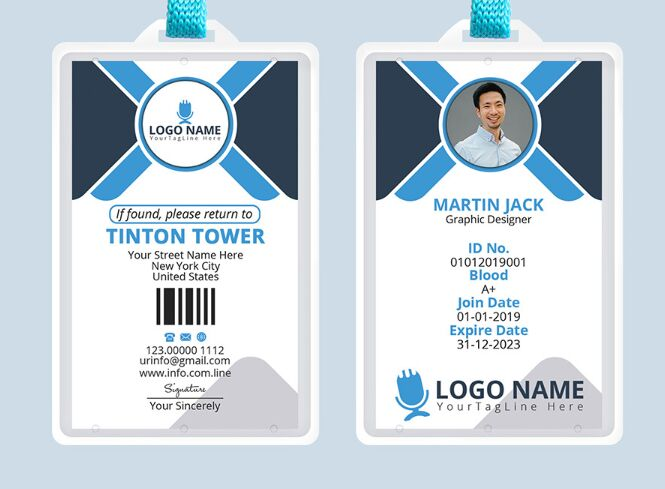 Office Template Titanui Id - Psd Professional Free Card