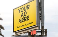 Realistic Professional Outdoor Billboard Mockup PSD