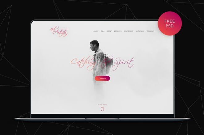 Art Agency Web Template For Photoshop