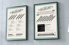 Resume CV Poster PSD Template