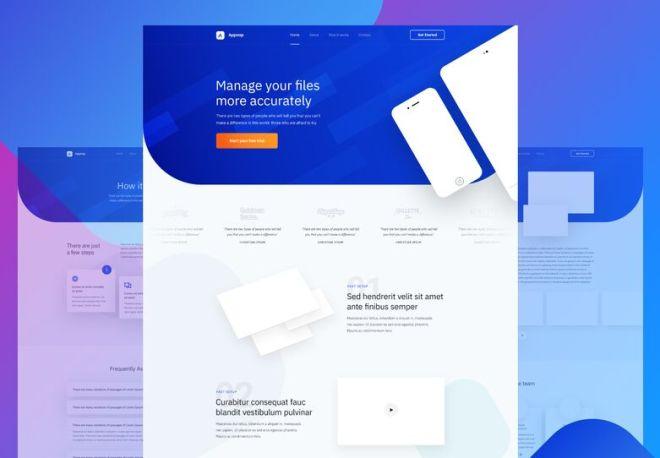 App Presentation Landing Page PSD Template
