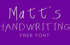 Matt's Handwriting Typeface
