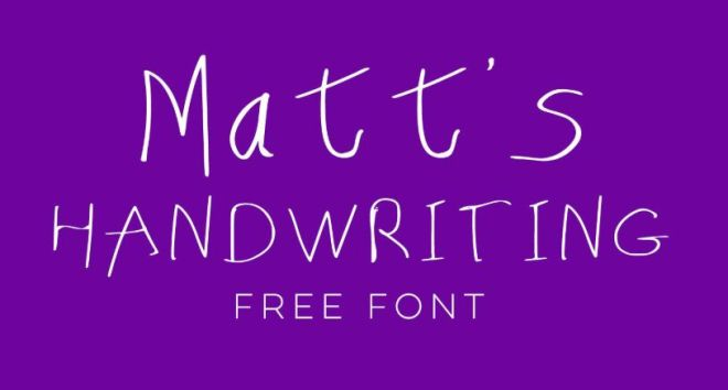 Matt's Handwriting Typeface