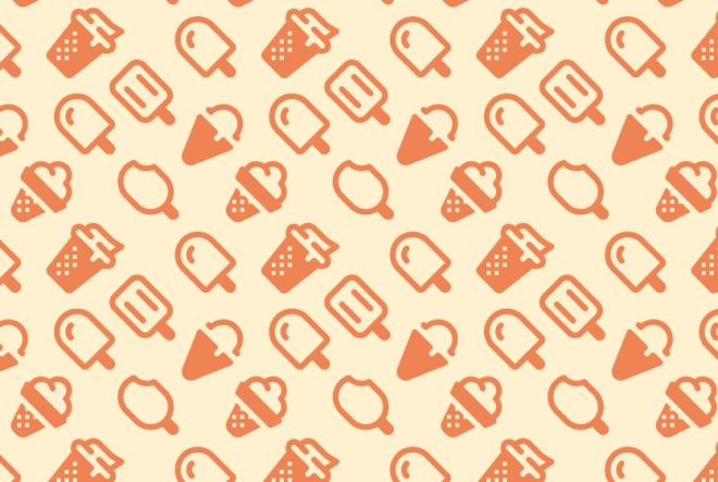 Ice Cream Vector Pattern