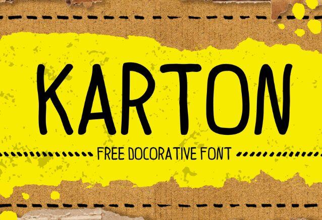 KARTON Handwritten Typeface