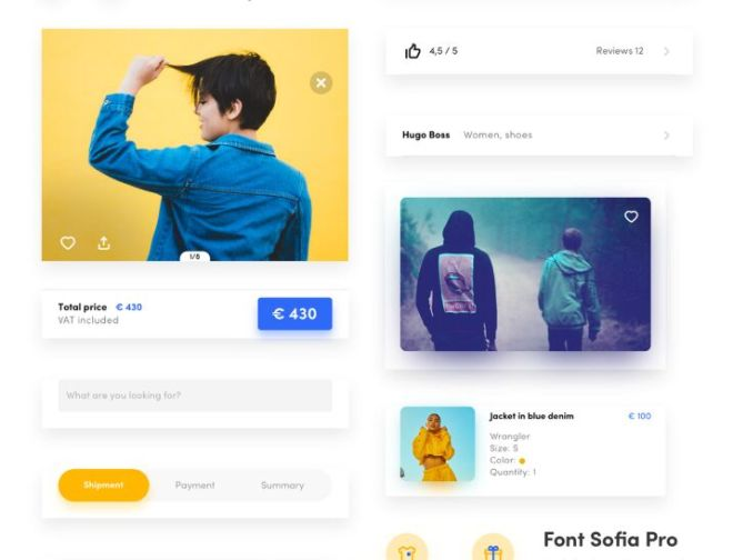 Online Store Mobile UI Kit For Sketch