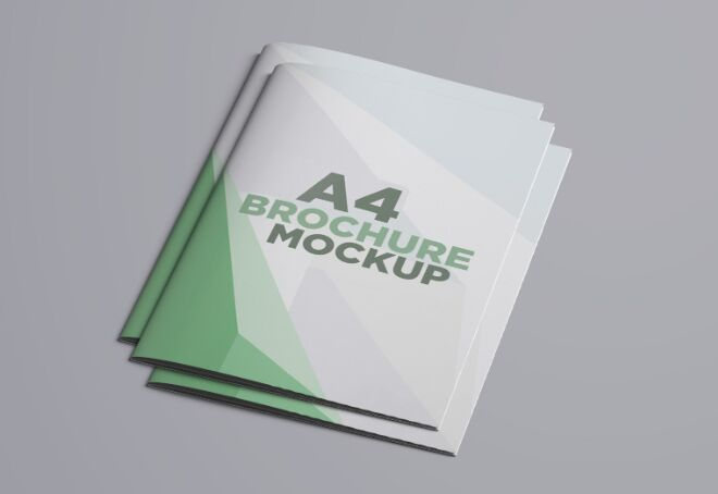 Professional A4 Brochure PSD Mockup