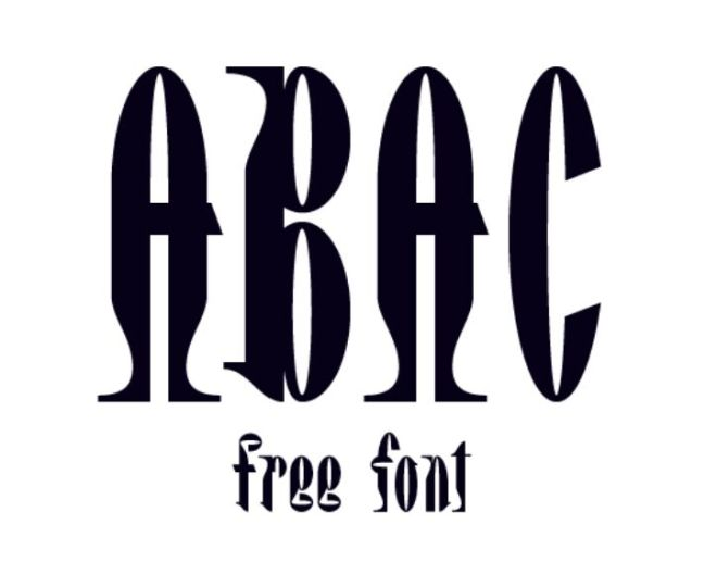 Abac Display Font
