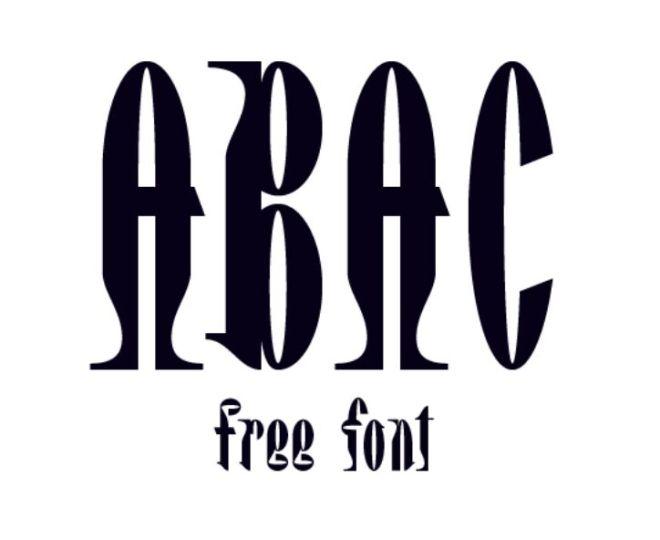 Abac Display Font