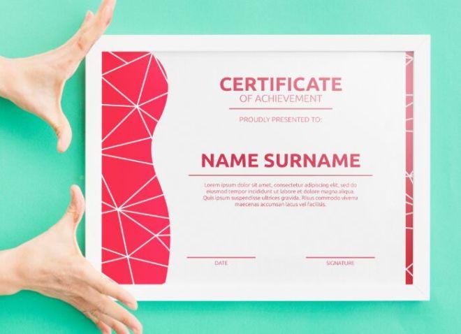 Minimal Flat Certificate Template PSD