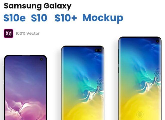Samsung Galaxy S10, S10e, S10+ XD Mockups