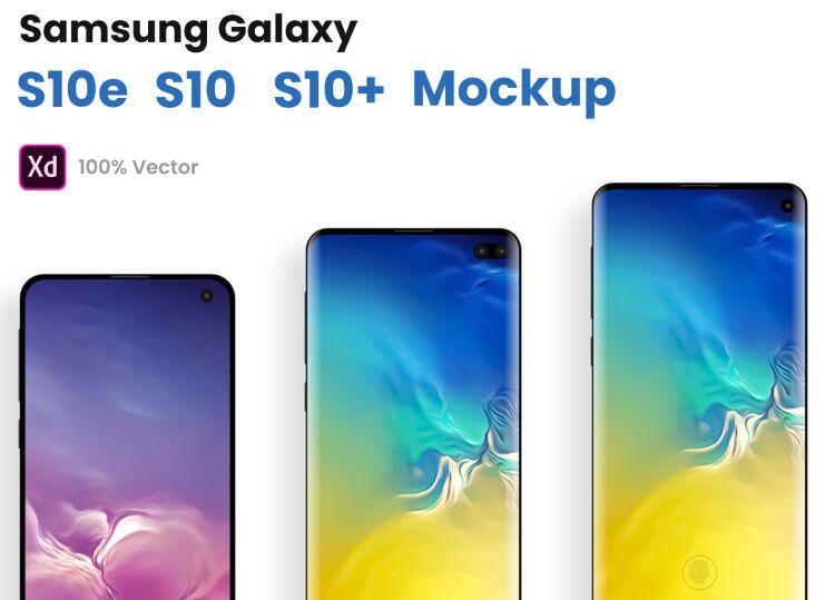Free Samsung Galaxy S10, S10e, S10+ XD Mockups - TitanUI
