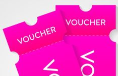Beautiful Voucher Vector Mockup