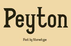 Peyton Display Font