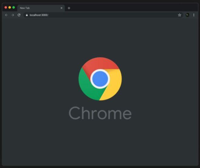 Chrome Browser Dark Mode Mockup For Sketch