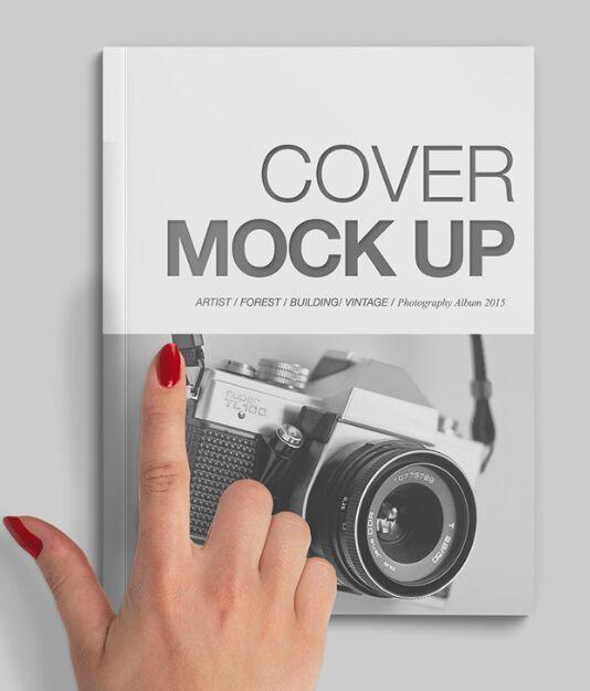 A4 Size Magazine Cover Mockup PSD