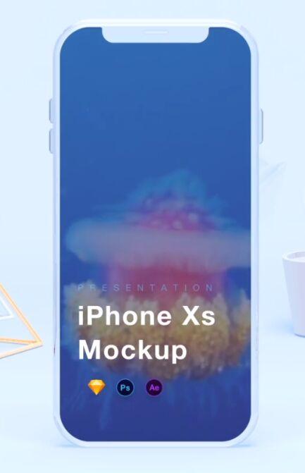Elegant iPhone Xs Mockup (AEP, PSD, Sketch)