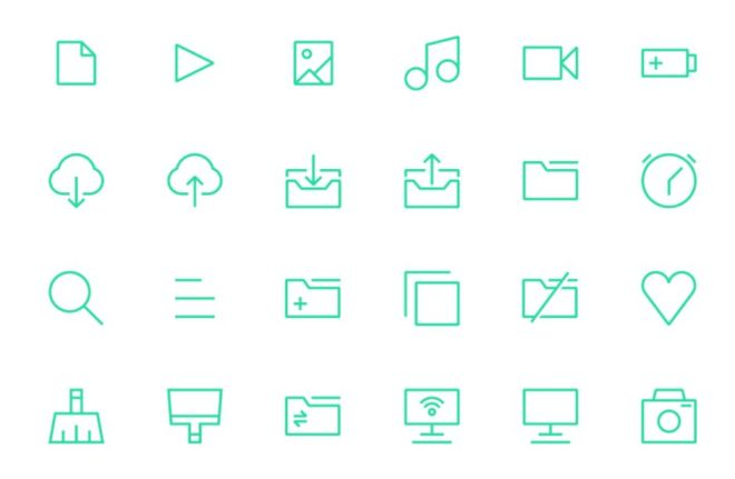 100 Minimal UI UX Icons PNG
