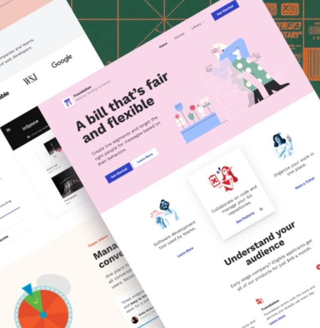 Foundation Landing Page Sketch Template