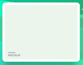 Minimal Flat iPad Pro Mockup (PSD, Sketch, XD)