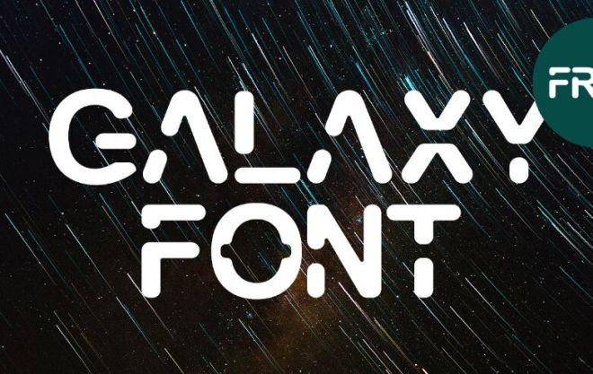 Modern Galaxy Typeface