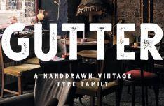 Gutter Vintage Typeface