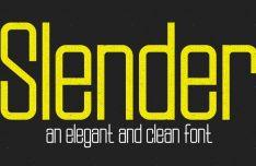 Slender Typeface