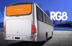 Realistic Bus Mockup PSD