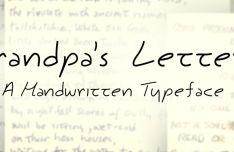 Grandpa's Letters Script Font