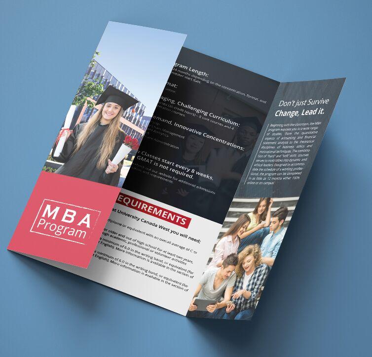 Free Gate Fold Brochure Mockup For Illustrator - TitanUI
