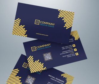 Floating Business Card Template For Illustrator