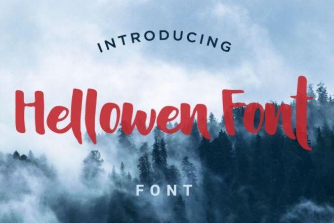Hellowen Handwriting Font