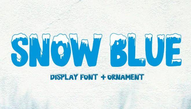 Winter Snow Display Font