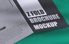 Realistic Z Fold Brochure PSD Mockup