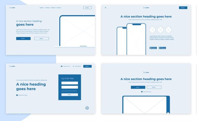 Professional Wireframe Kit (Adobe XD)