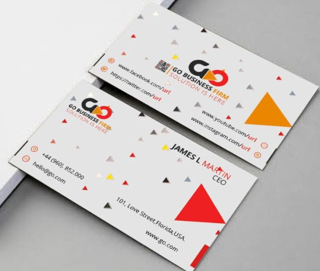 Modern Business Card Template For Branding