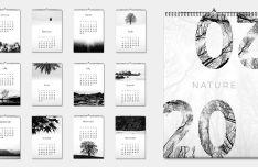 Minimal 2020 Nature Calendar PDF