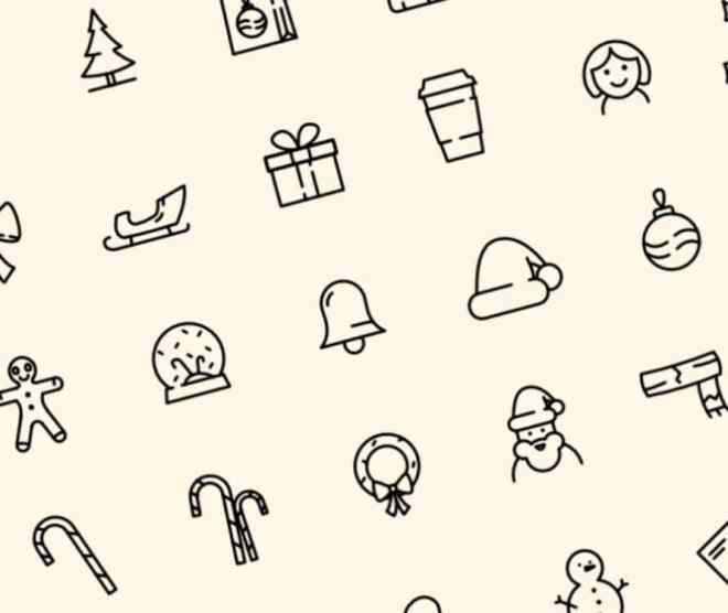 40 Christmast Line Icons (AI, Sketch, XD, Affinity Designer)