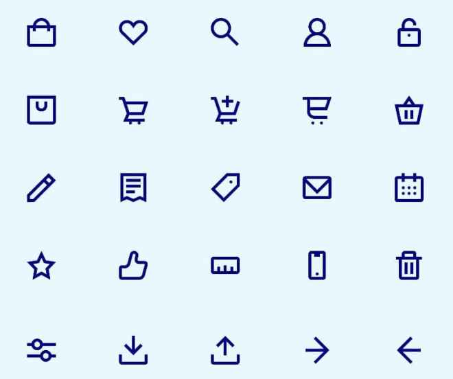 60 E-commerce Icon Pack