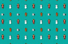 Cute Christmas Pattern For Photoshop