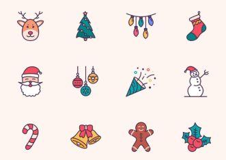 Sweet Christmas Icon Set (Sketch App)